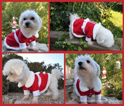 vestido mama noel para perro