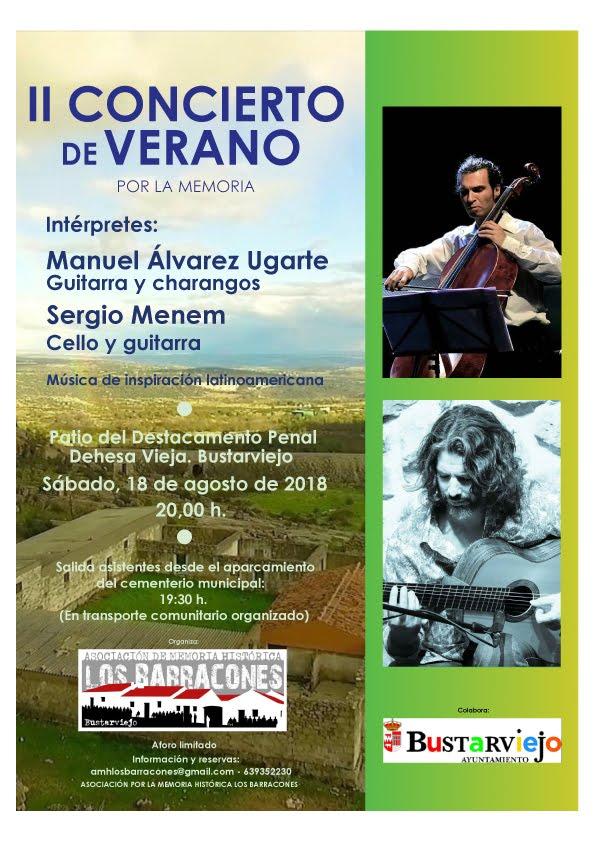 18 agosto Concierto en Bustarviejo