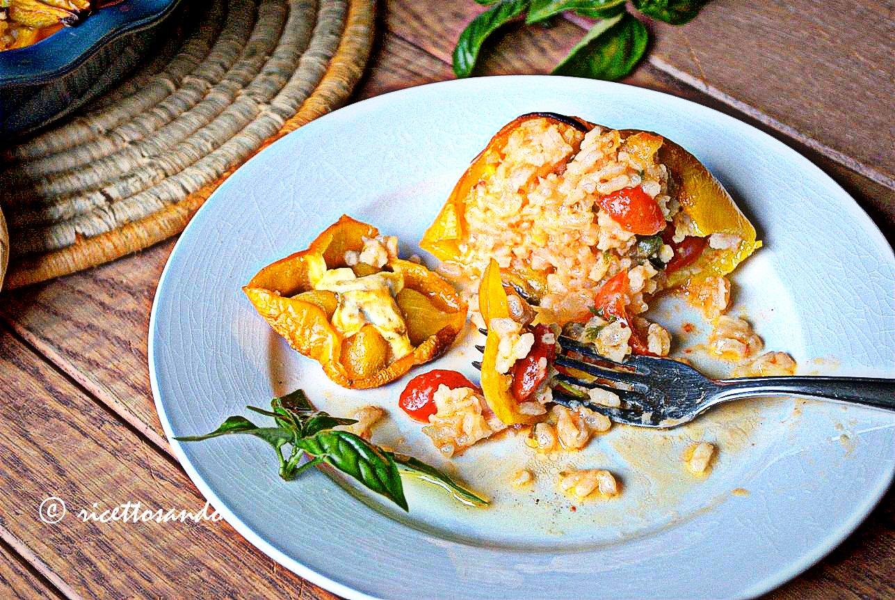 Peperoni light ripieni di riso