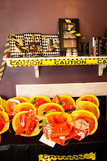 Construction Hats and Tool Aprons as Party Favors