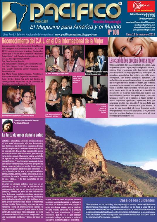 Revista Pacífico Nº 109 Arqueología