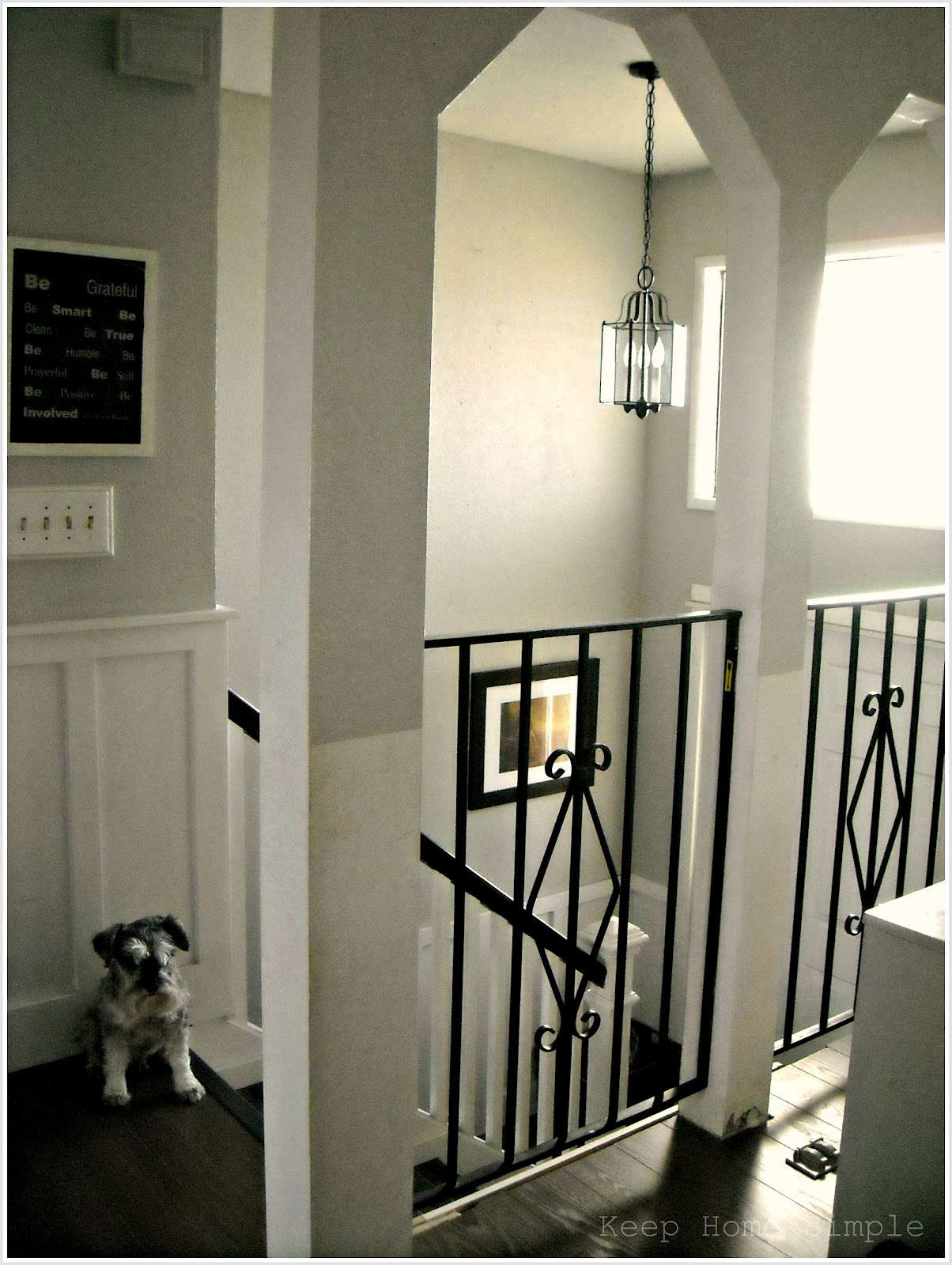 Keep home simple new entry light for Bi level foyer ideas