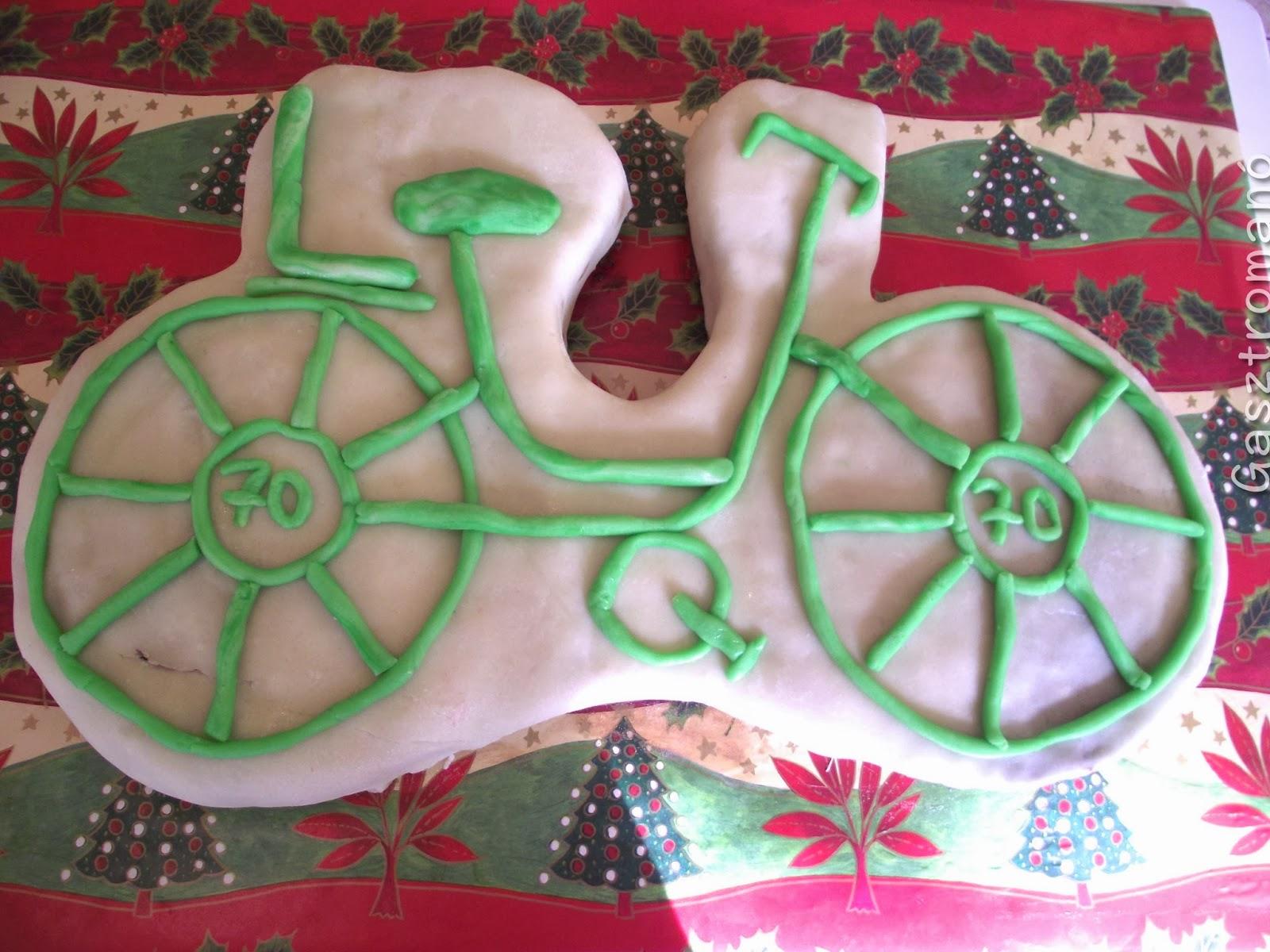 Kerékpár torta készítése