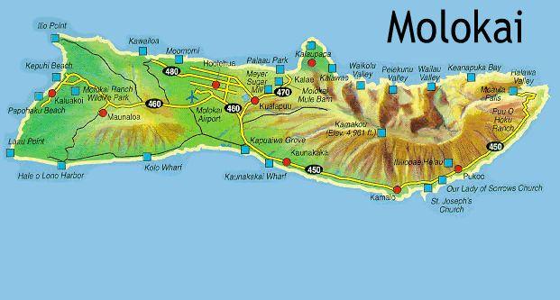 Molokai Map  Free Printable Maps