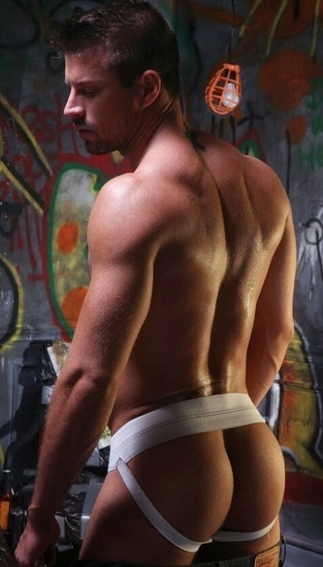 Sexy Man's Ass in Jockstrap