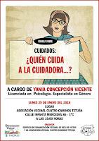 """Charla sobre """"Cuidados: ¿Quién cuida a la cuidadora...?"""", por Yania Concepción Vicente"""