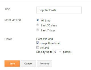 Chia Popular Posts Thành 2 Cột Với  Thumbnail Và Tiêu Đề