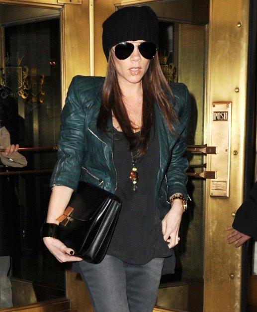 Виктория бэкхем с курткой marc jacobs кожаные куртки moncler уфа