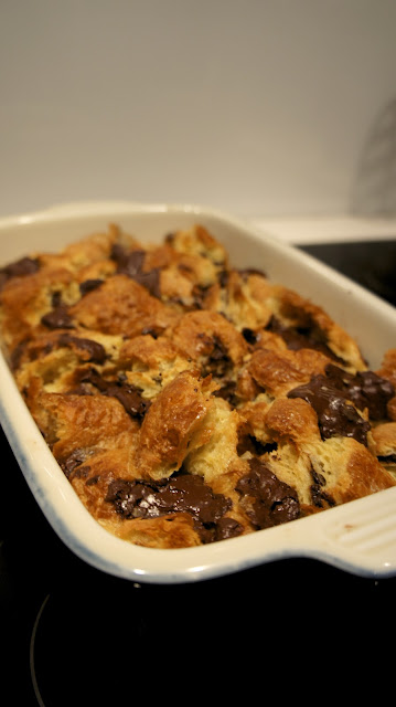 Pain Au Chocolat Bread & Butter Pudding!