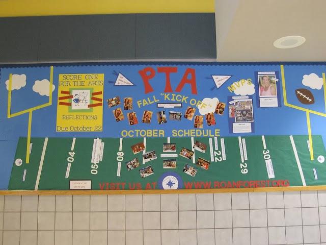 Fall football theme school bulletin board idea