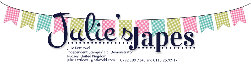 Stampin' Up! UK Independent Demonstrator - Julie Kettlewell