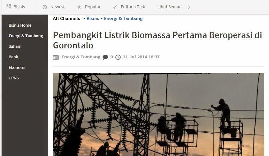 Pembangkit listrik biomassa gorontalo
