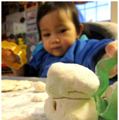 Dough play for toddlers