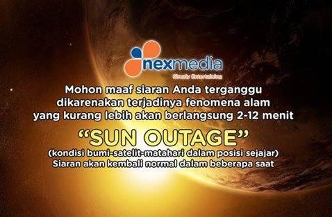 apa itu sun outage nexmedia