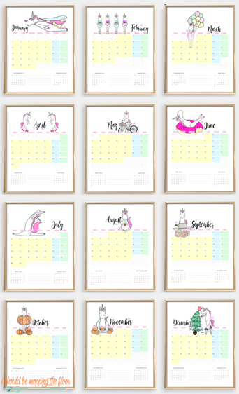 The 2018 Unicorn Calendar is Going FAST!