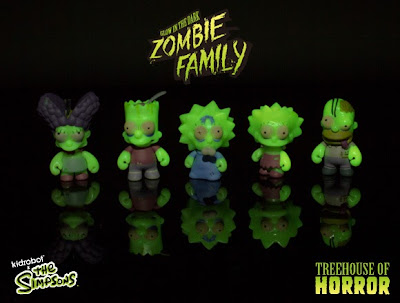 The Simpsons GID Zombie Family 5 Pack by Kidrobot