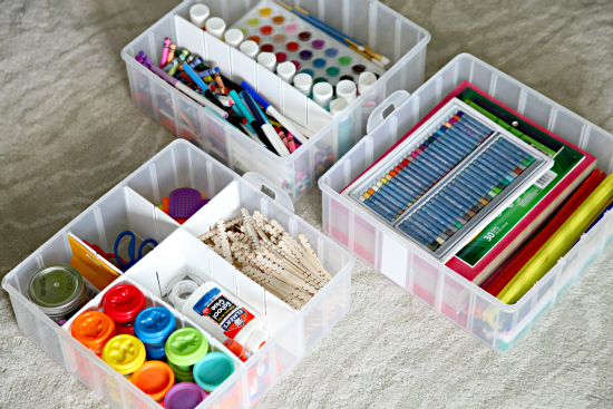 Iheart organizing our secret craft storage for Craft supplies organization ideas