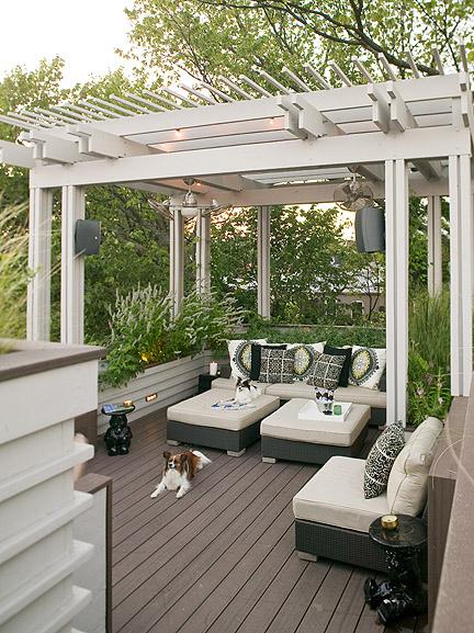 Concrete jungle dc lori graham masterpiece for sale for Garden decking colours