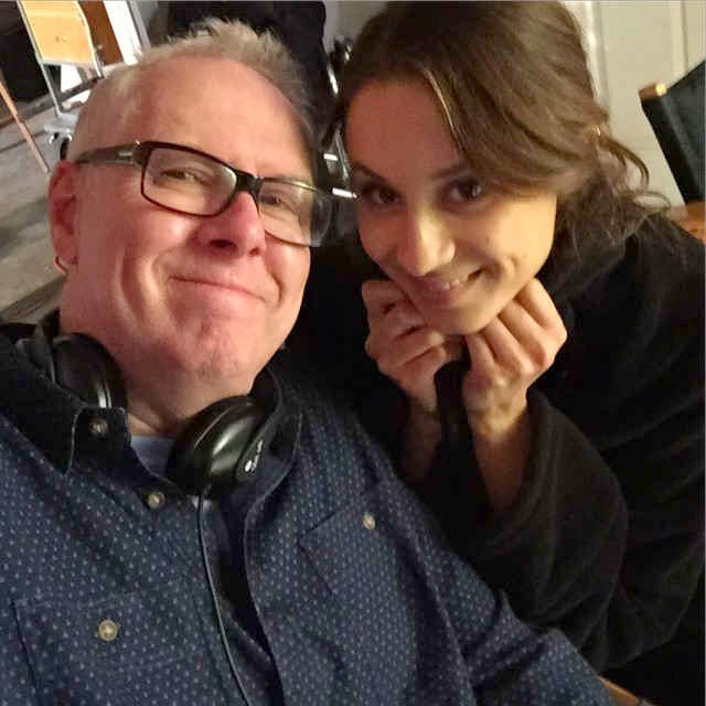 Troian Bellisario with PLL Director Norman Buckley