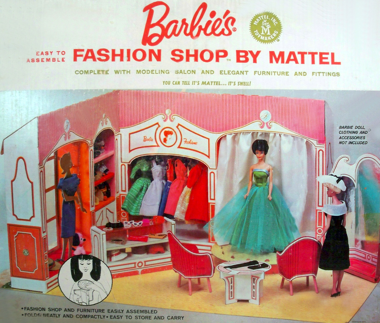 Vintage Barbie Fashion Show Front of the Box