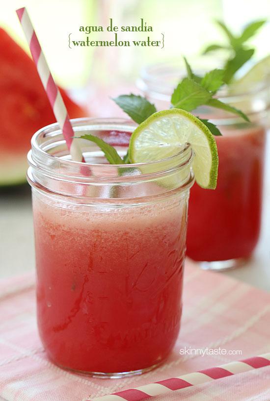 Agua De Sandia (Watermelon Water)