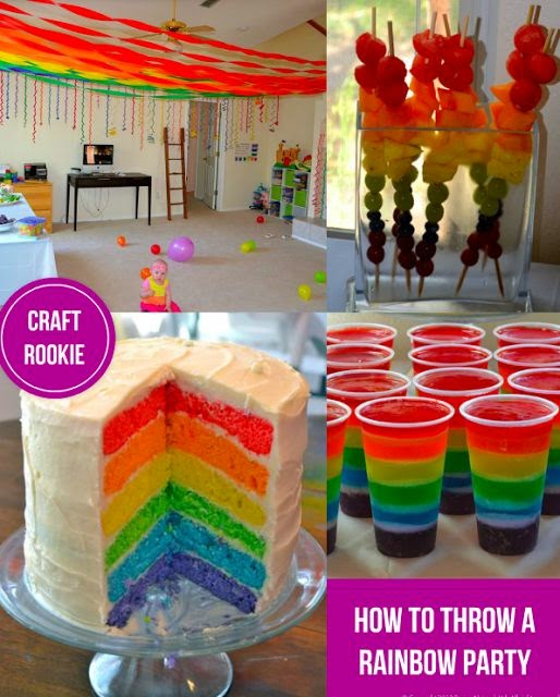 Craft rookie how to throw a rainbow party for Crafts for 10 year old birthday party