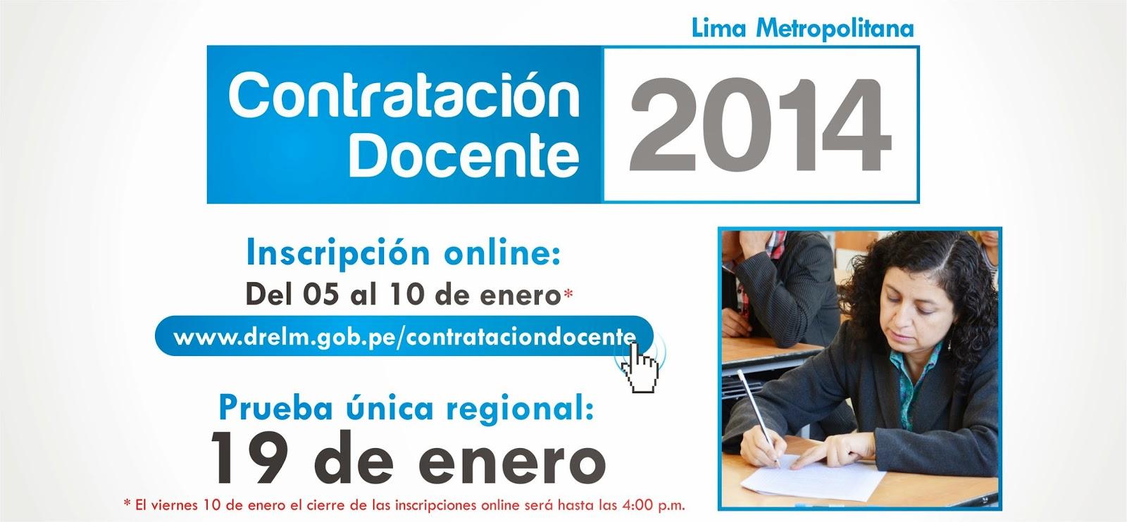 Resultados Examen Contrato Docente 2014 19 de Enero 2014