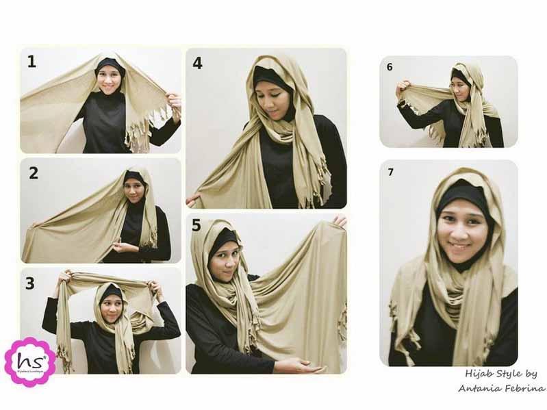 Cara Pakai Jilbab modis