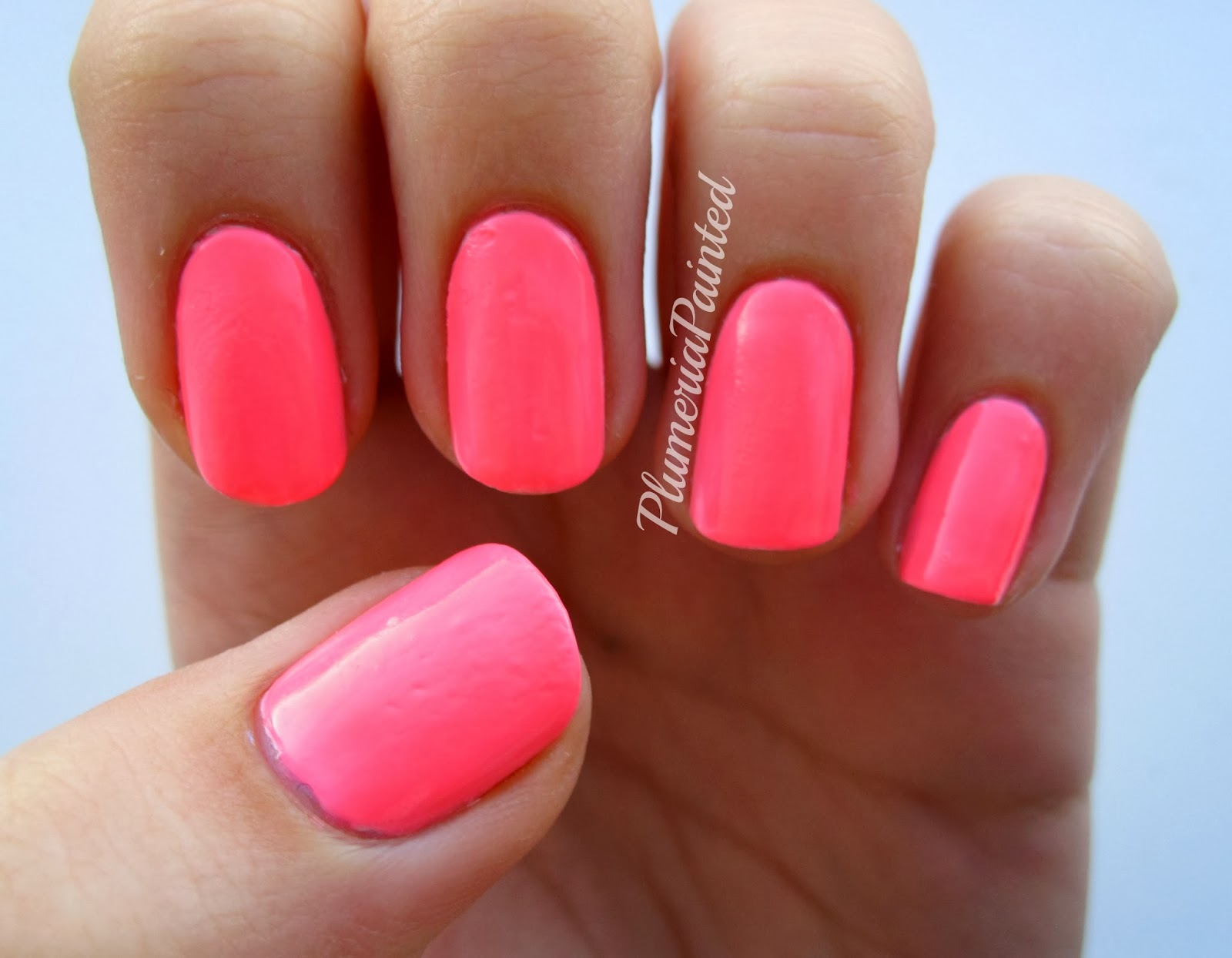 Plumeriapainted pink nails barry m superdrug limited edition when i first bought this i didnt realise it was neon but then i was in a darkish and it was glowing i love that obviously my camera had difficulties prinsesfo Image collections