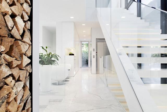 White modern hallway