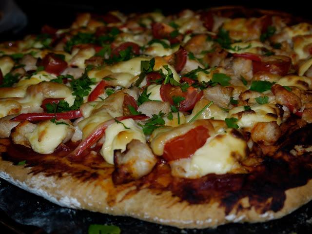 Pizza með kjúklingi