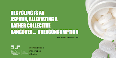 Recycling is an aspirin, alleviating a rather collective hangover overconsumption