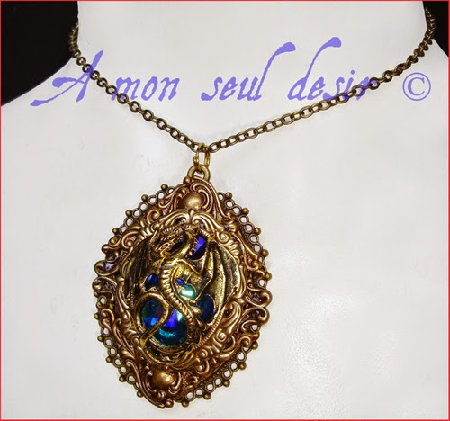 Collier dragon bijouterie médiéval fantastique