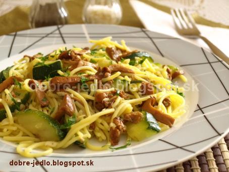 Špagety s kuriatkami - recepty