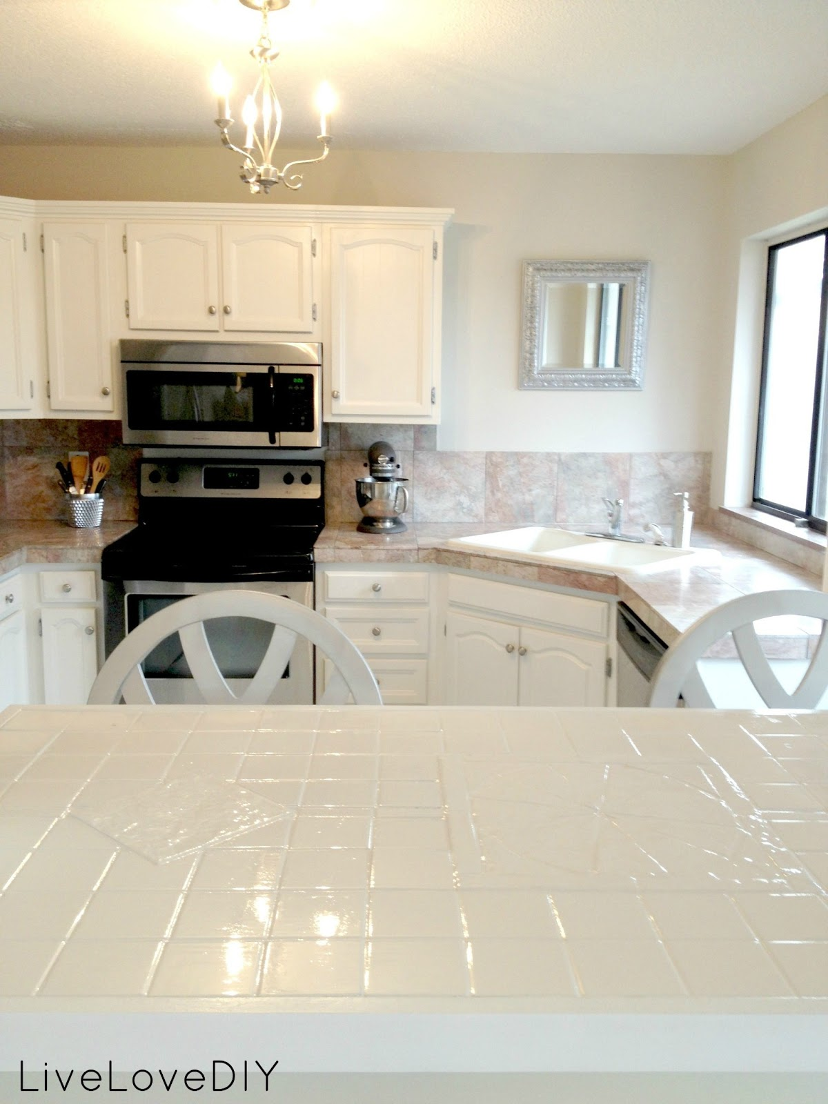 LiveLoveDIY: How To Paint Tile Countertops