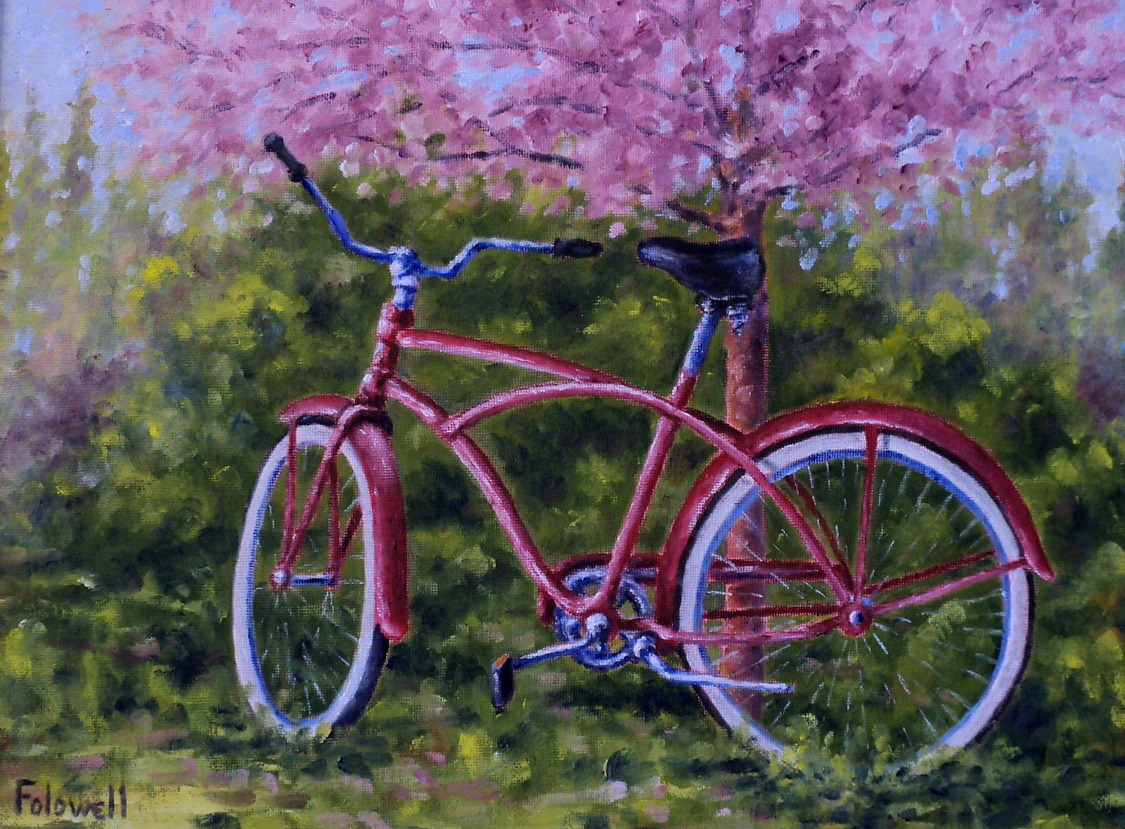 Bicycle painting bing images for Bicycle painting near me
