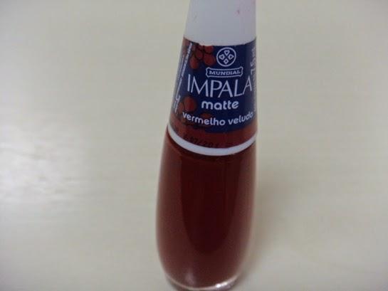 Unhas - Vermelho Veludo matte - Impala