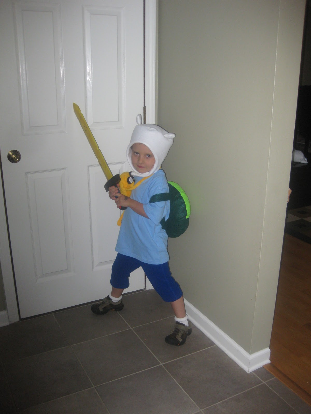 jumping in with both feet: adventure time costumes - finn