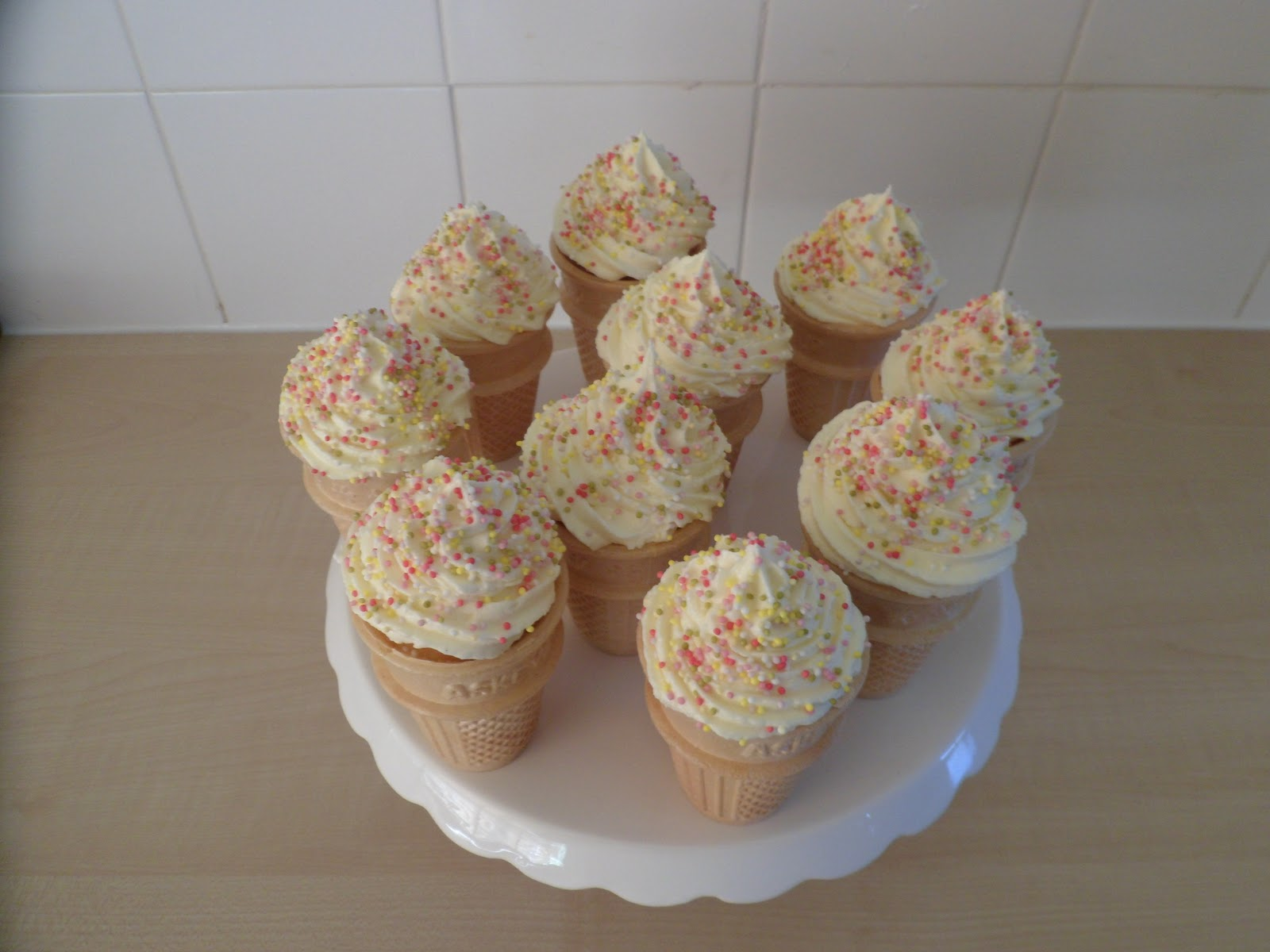 Sprinkles Ice Cream Cone Cupcakes Recipe — Dishmaps