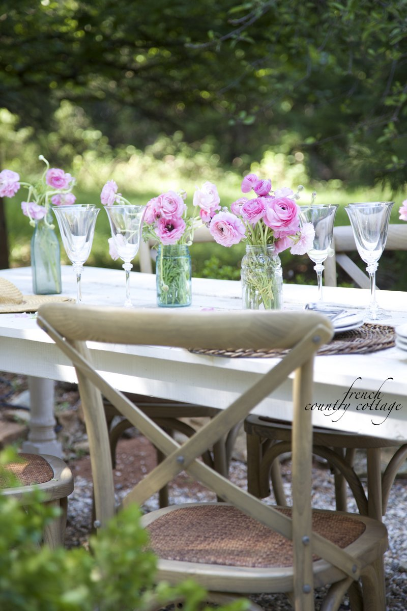 Dining outdoors on the patio - FRENCH COUNTRY COTTAGE