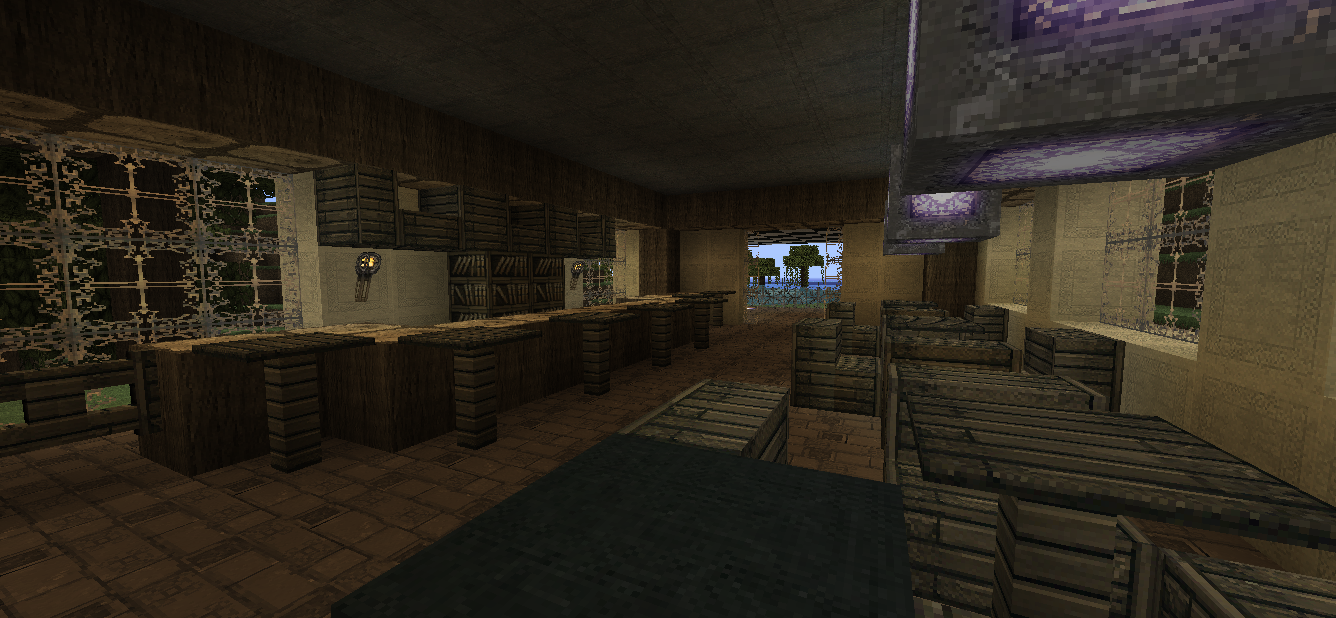 minecraft how to build a bar