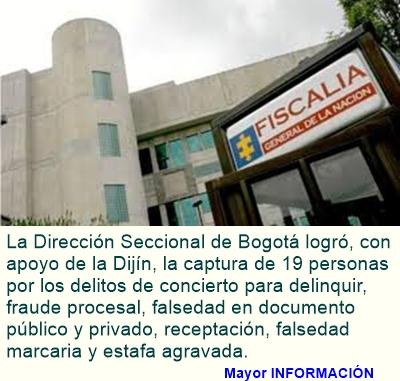BOGOTÁ: Desarticulada organización dedicada a la estafa de automotores