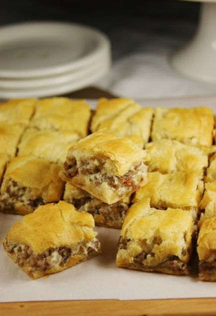 3 Ingredient Sausage Crescent Roll Bites