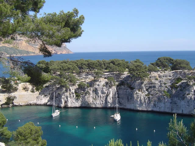 La Calanque de PORT-PIN, Cassis, Marseille, France