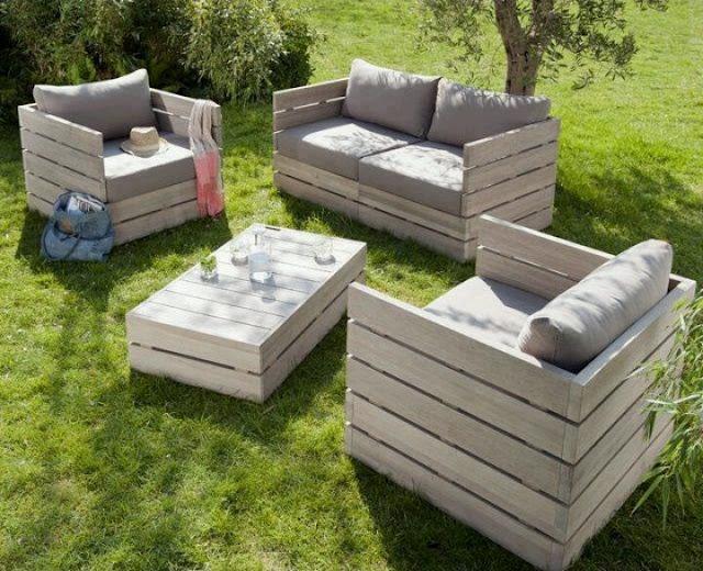 muebles de jardín de palés