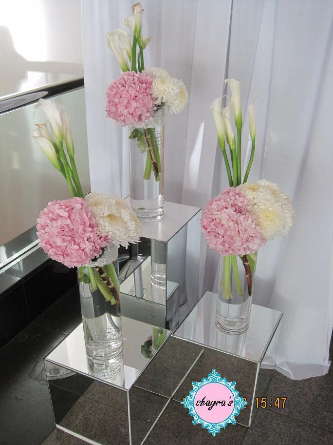 Flora By Shayra Pastel Pink Purple In Tall Vase Arrangement