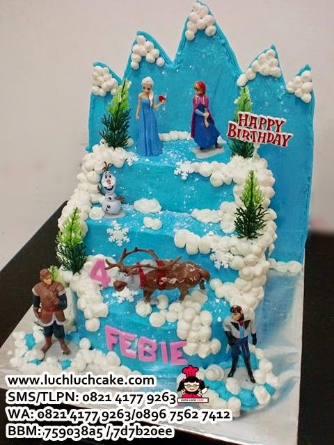 Frozen Birthday Tart Buttercream Daerah Surabaya - Sidoarjo