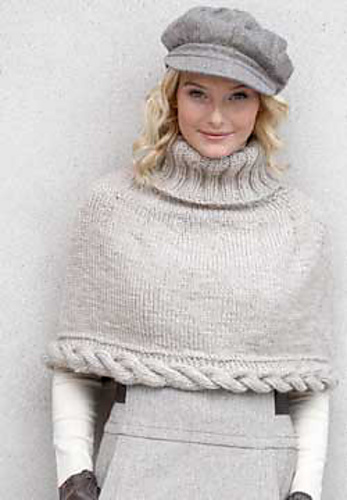 Patons Cowl Knitting Pattern : knitnscribble.com: Cape patterns for year round wear