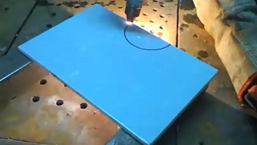 Cắt gạch men với máy hàn cắt đa năng Multiplaz 3500