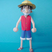 Monkey D Luffy Papercraft Model Free